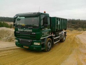nelissen containers - zand laden in groeve